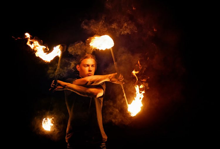 Fairground Fire Artist